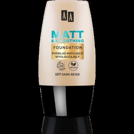 AA Make Up podkład matująco wygładzający 107 dark beige 30 ml