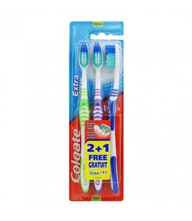 Colgate Extra Clean Medium szczoteczka do zębów 3-pak